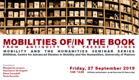 Mostra bibliografica: Mobilities of/in the book